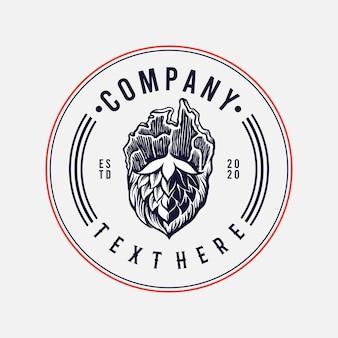 Brauerei fleisch company logo premium