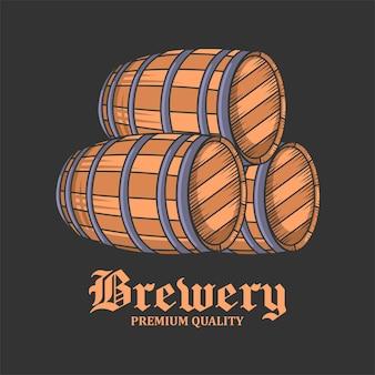 Brauerei illustration, oktoberfest, getränk, bier