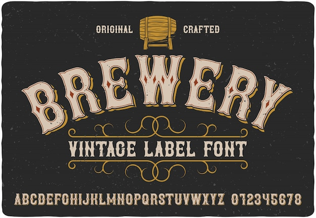 Brauerei-label-schrift