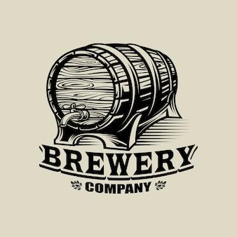 Brauerei-logo schwarz und weiß