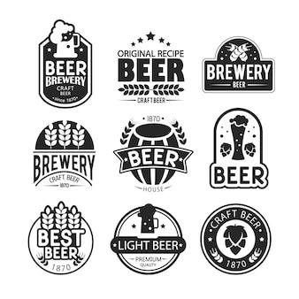 Brauerei logos und embleme design.