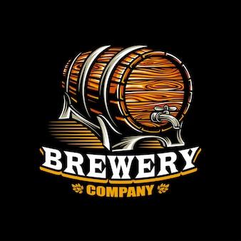 Brauereivektor auf dunklem hintergrund