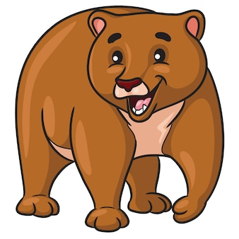 Braunbär-cartoon