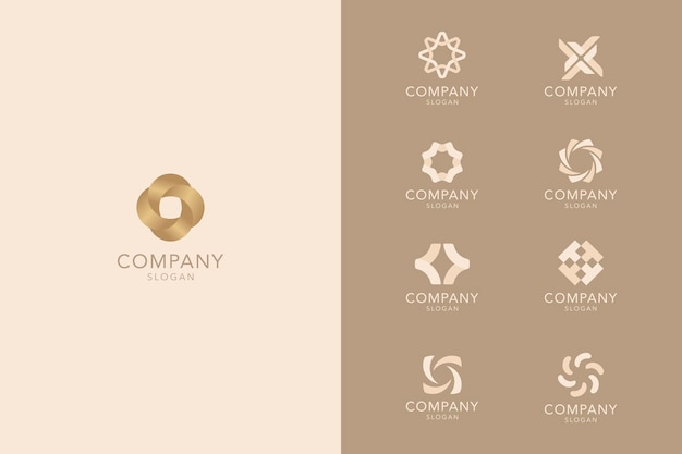 Braune business-logo-kollektion