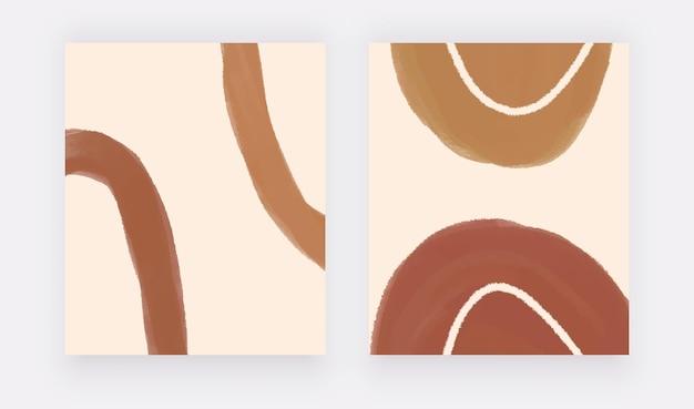 Braune handzeichnung boho wandkunstdrucke mit linien