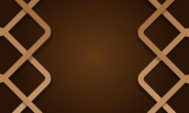 Brauner hintergrund mit abgerundeten linien. abstrakter hintergrund. vektor-illustration.