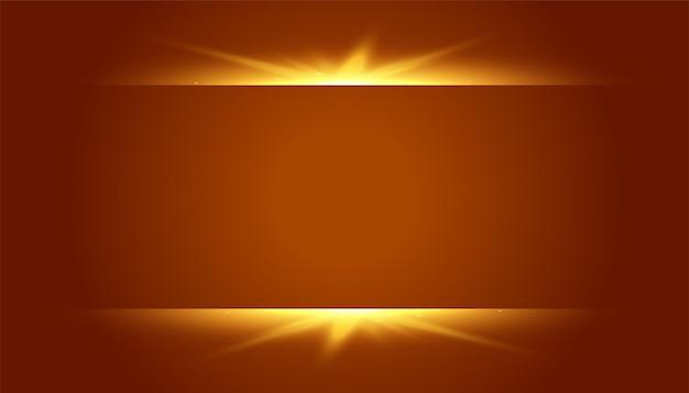 Brauner hintergrund mit leuchtendem lichteffekt