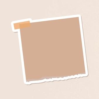 Brauner notizbuch-tagebuch-aufkleber-vektor