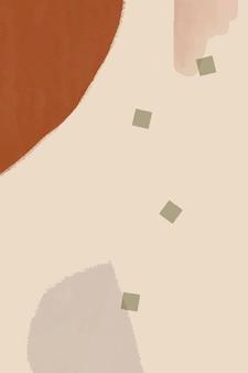 Brauner und cremefarbener abstrakter aquarellhintergrund