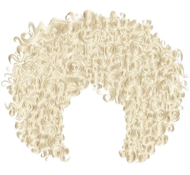 Braunes blondes trendiges lockiges haar. realistische 3d. frisur.