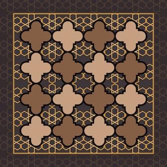 Braunes islamisches geometrisches muster