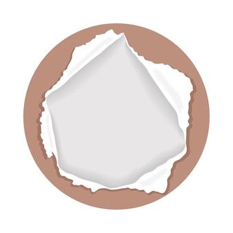Braunes papier gerissen