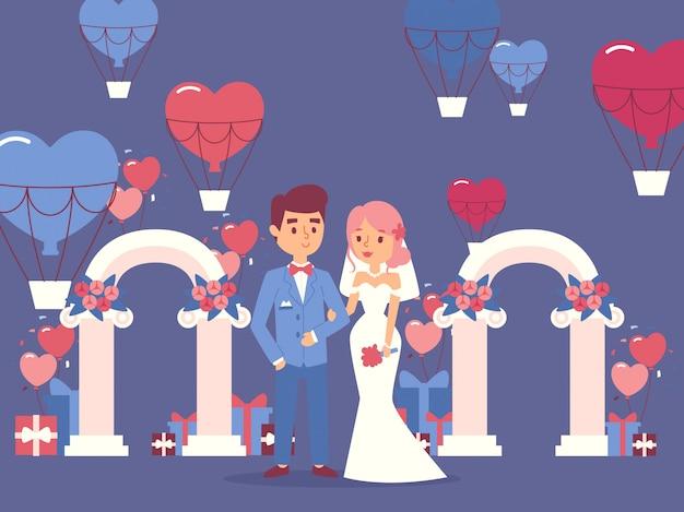 Braut und bräutigam bei der hochzeitszeremonie