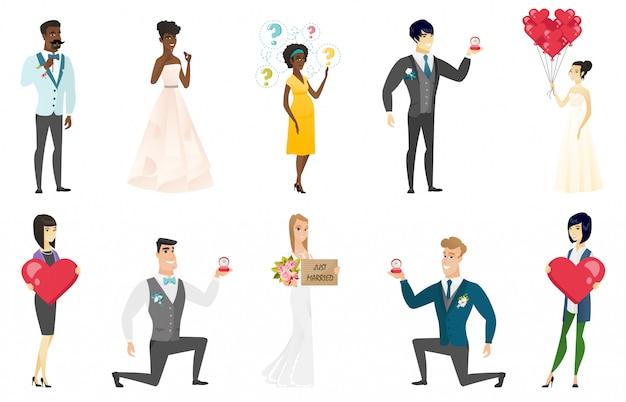 Braut und bräutigam festgelegt