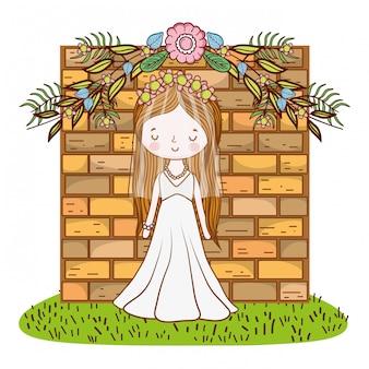 Braut weibliche niedlichen cartoon