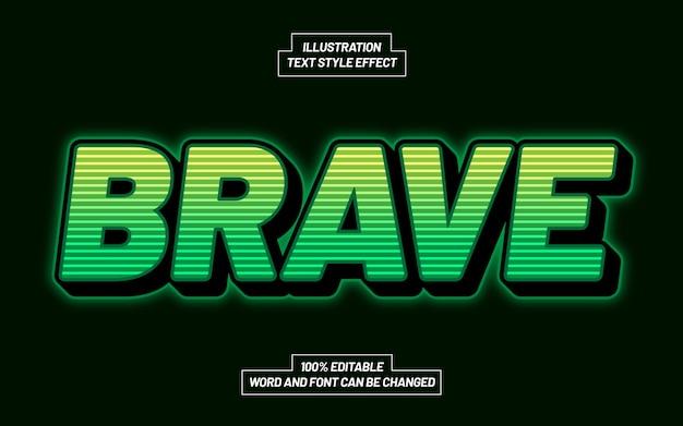 Brave 3d bold text style effekt