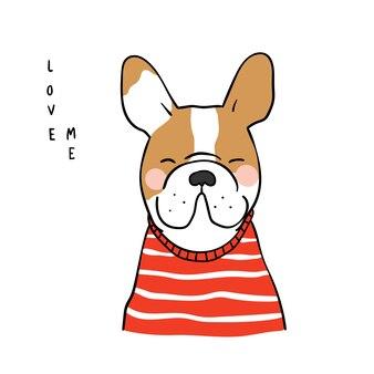 Brawn französische bulldogge und benennung lieben mich