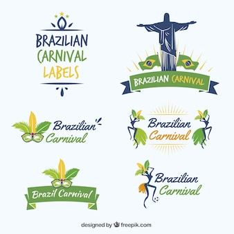 Brazilian carnival etiketten sammlung