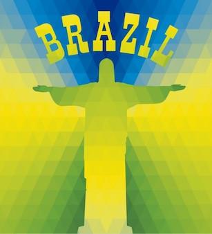 Brazilian könig christus hintergrund
