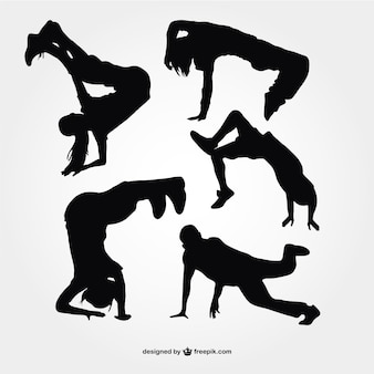Breakdance silhouetten