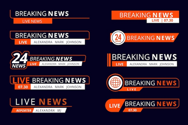 Breaking news banner design