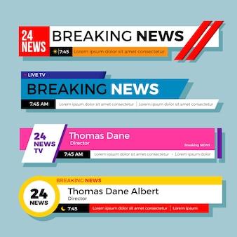 Breaking news banner design