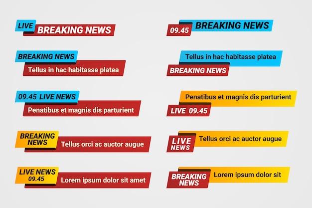 Breaking news banner konzept