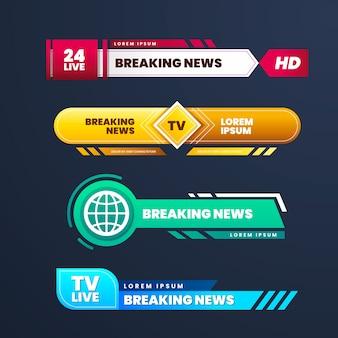 Breaking news banner stil