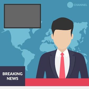 Breaking news flat