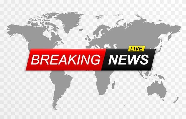 Breaking news hintergrundbanner breaking news live-nachrichten-bildschirmschoner
