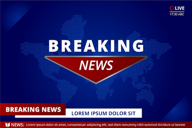 Breaking news konzept über die weltkarte