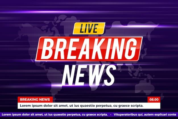 Breaking news-konzept
