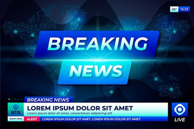 Breaking news tv-konzept