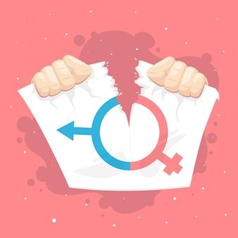 Brechen sie das design von geschlechtsnormen