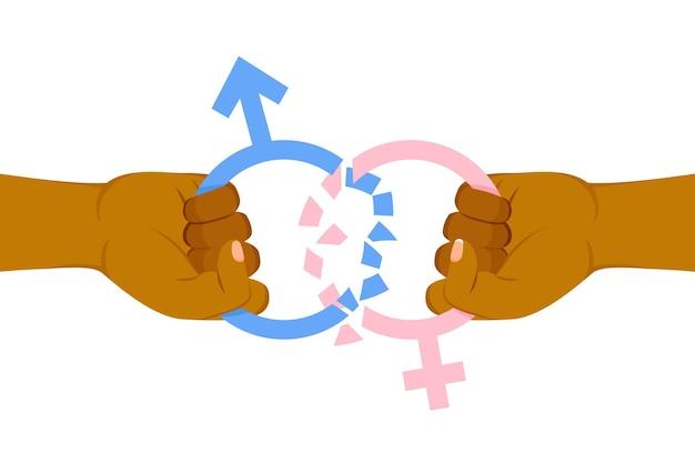 Brechen sie das konzept der geschlechtsnormen