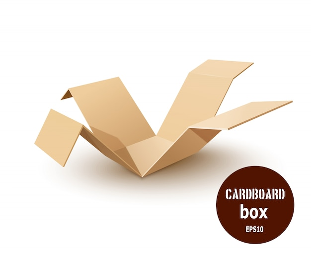 Brechen sie einen karton aus papier.