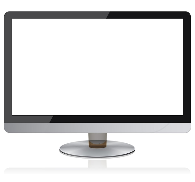 Breitbild-flachbildschirm moderne digitale geräte