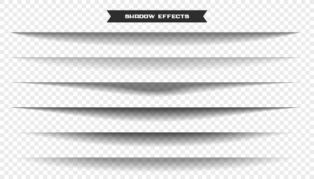 Breiter papierblatt-schatteneffektsatz von sechs