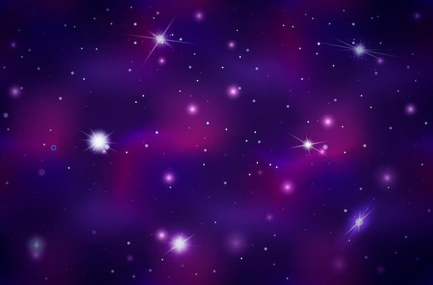 Breiter weltraumhintergrund mit hellen sternen und sternbildern