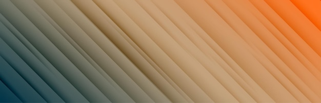 Breites banner mit diagonalen linienmuster