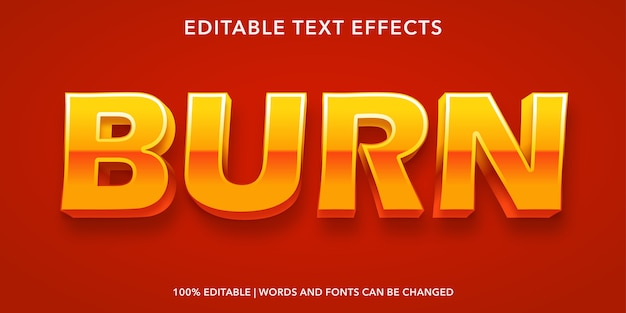 Brennbaren texteffekt brennen