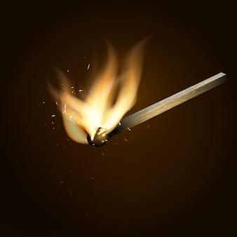 Brennendes streichholz