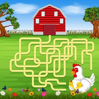 Brettspiel mit einem Bauernhofhintergrund