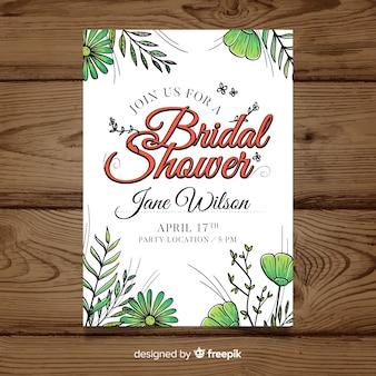 Bridal shower einladung