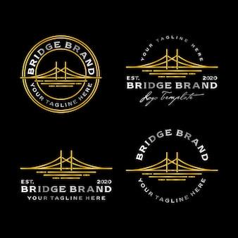 Bridge illustration logo, mit gold und silber, so dass es luxuriös und edel aussieht.