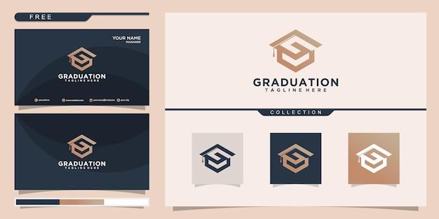 Brief-abschluss-logo-design und visitenkarte