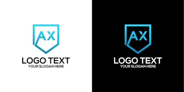 Brief axt logo design vektor premium-vektor