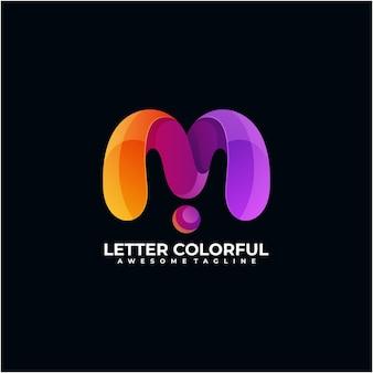 Brief bunte logo-design-vorlage moderne farbe