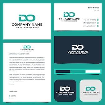 Brief tun logo und visitenkarten-premiu