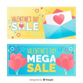 Brief und ballons valentinstag verkauf banner